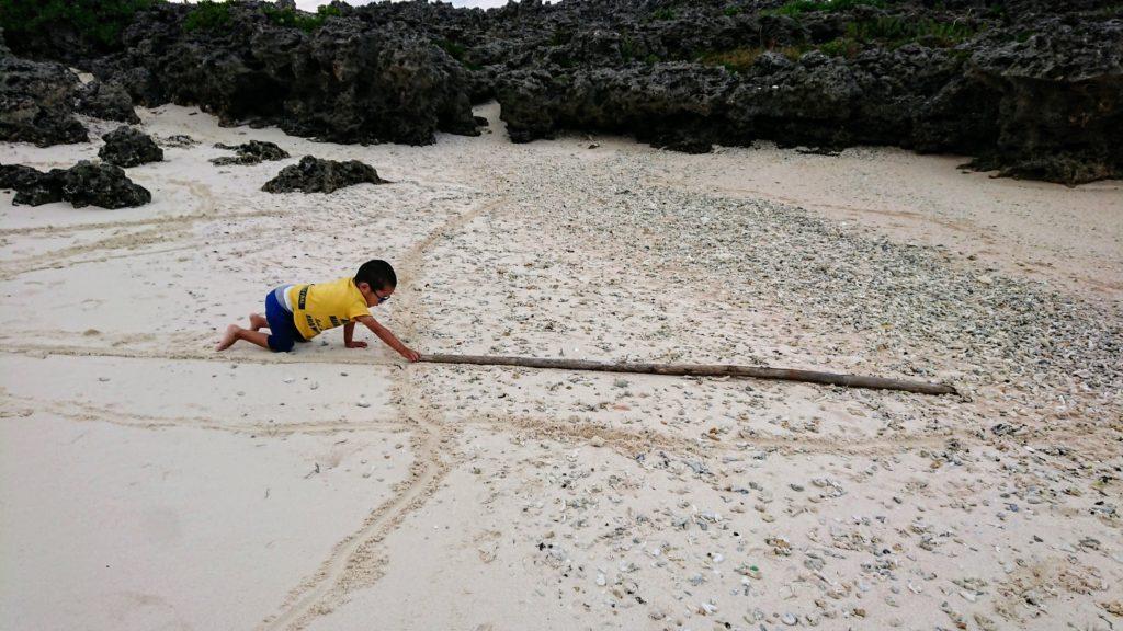 与論島・海遊び